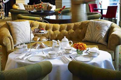 Afternoon Tea at Grosvenor House's Park Room and Library, Park Lane, Mayfair, London W1K 7TN, England, U.K.