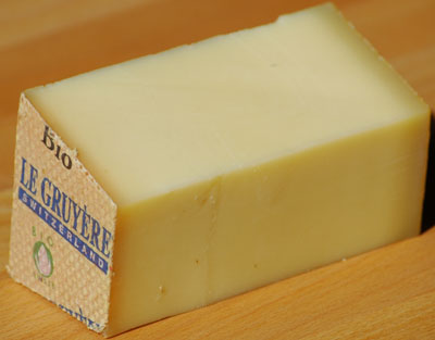 Gruyère cheese.