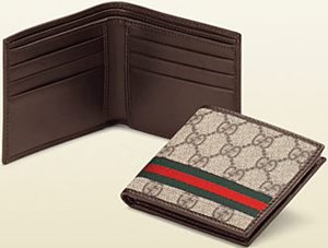 Gucci Web Bi-Fold Wallet: US$280.
