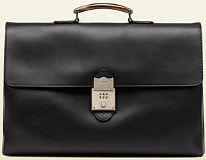 Gucci Helmut Hand-Stained Leather Briefcase: US$3,300.