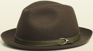 Gucci men's green felt fedora: US$450.