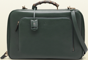 Gucci Men's Green Leather Soft Suitcase: US$2,700.