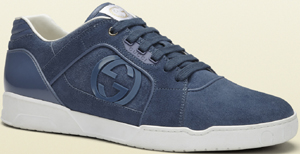 Gucci sky blue suede lace-up sneaker: US$520.