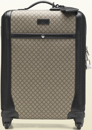 Gucci Women's Four Wheel Diamante Carry-on Suitcase: US$2,950.