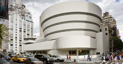 Solomon R. Guggenheim Museum (New York City, NY, U.S.A.) by Frank Lloyd Wright (1959).