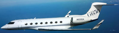 Gulfstream G650. Price: US$65 million.