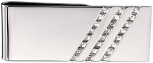 Harry Winston Men by Thom Browne Three Row Money Clip.