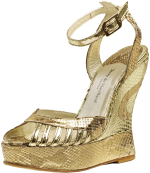 Terry de Havilland Margaux Python Gold Shoe: £495.