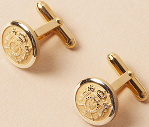Henry Poole & Co Signature Gold Plated Napoleonic Cufflink: £125.