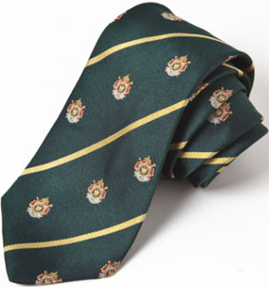 Henry Poole Napoleonic Crested Green Tie: £45.