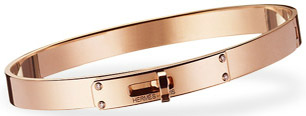 Hermès Kelly Bracelet in rose gold with white diamonds: US$8,450.
