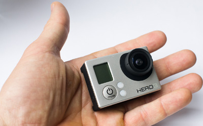 GoPro HERO 3 Silver Edition.