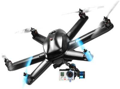 HEXO&#43 drone autonomously follows the action, for under US$500.