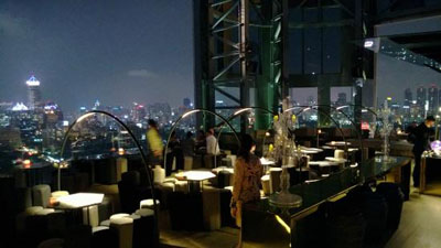 Bar Hi So on the 63rd floor of the Hotel Sofitel So Bangkok, 2 North Sathorn Road | Bangrak, Bangkok 10500, Thailand.