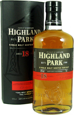 Highland Park 18 Year Old.