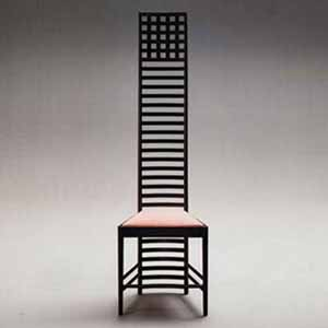 The Hill House Chair By Charles Rennie Mackintosh (1903).