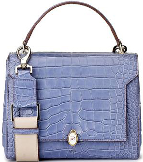 Anya Hindmarch Bluebell Alligator Bathurst Eye Handbag: £7,500.