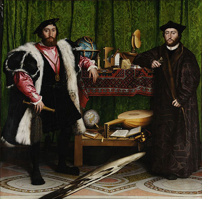 The Ambassadors (1533) by Hans Holbein.