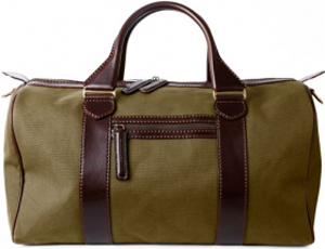 Holland & Holland large leather weekend canvas bolster bag: £795.