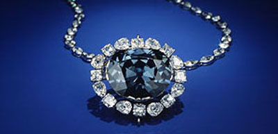 The Hope Diamond at Smithsonian National Museum of Natural History, 700 Independence Ave SW, Washington, DC 20560, U.S.A.