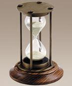 Bronzed 30 minute hourglass.