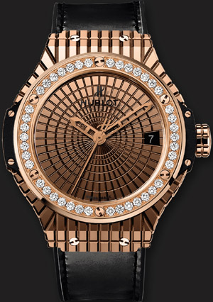Hublot Gold Caviar Diamonds watch.