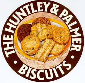 Huntley & Palmers - biscuit maker since 1822.