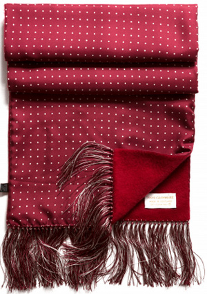 Huntsman Handmade reversible cashmere and silk men's scarf: £350.