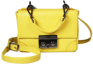 Illesteva Women's Mercer Yellow Leather Handbag: US$475.