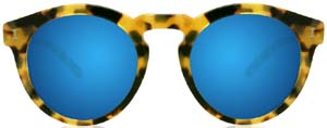 Illesteva Toohey Tortoise with Blue Mirrored Lenses Women's Sunglasses: US$230.