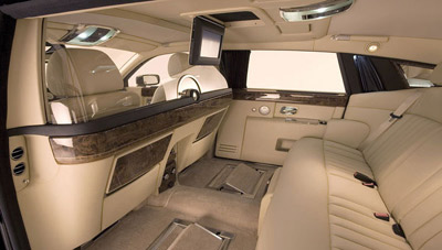 Rolls-Royce Phantom interior.