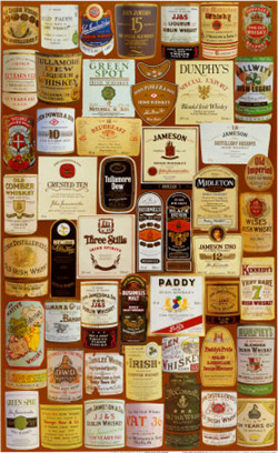 Irish whiskeys.