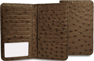 Jack Georges Genuine Osterich Breast Secretary Men's Wallet: US$375.
