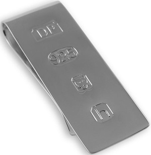 Sterling silver James Bond money clip: £99.