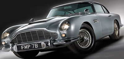 Aston Martin DB5 - James Bond's 1964 Aston Martin sold at RM Auctions on October 27, 2010 for £2.912.000.