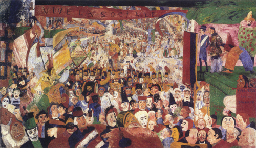 Christ's Entry Into Brussels in 1889 (1888) by James Ensor.
