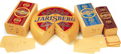 Jarlsberg cheese.