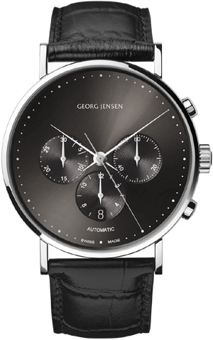 Georg Jensen KOPPEL 307 - 41 mm automatic chronograph, anthracite grey dial � Limited Edition: US$3,600.
