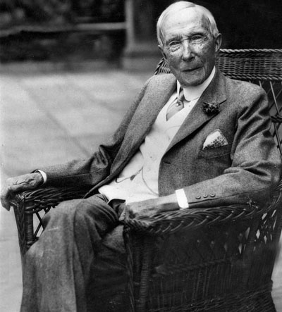 John D. Rockefeller (1839-1937 - the richest American who ever lived. Worth the equivalent of US$340 billion in today's dollars.