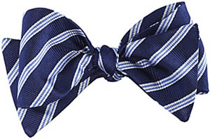 Johnston & Murphy Triple Stripe Silk Bow Tie: US$65.