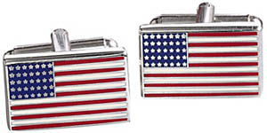 Johnston & Murphy American Flag Cufflinks: US$65.