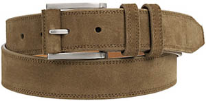 Johnston & Murphy Men's Contrast-Stitched Suede Belt: US$69.50.