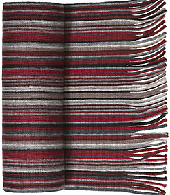 Johnston & Murphy Men's Striped Wool Scarf: US$69.50.