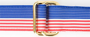 J.Press Ribbon Belt - American Flag men's belt: US$22.