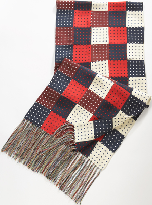 J.Press Silk Patchwork Men's Scarf: US$165.