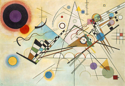 Composition VIII (1923) by Wassily Kandinsky.