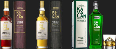 Kavalan whiskies.