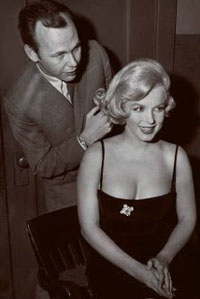 Kenneth Battelle with client Marilyn Monroe.