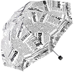 Kilofly Newspaper Ruffle Edge Folding Umbrella: US$27.85.