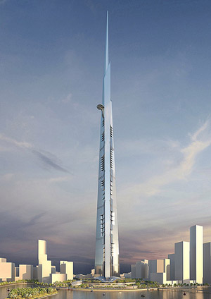 Kingdom Tower, Jeddah, Saudi Arabia.